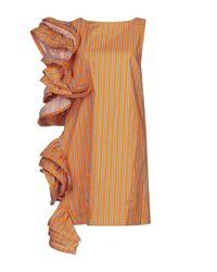 WEILI ZHENG Orange Short Dress