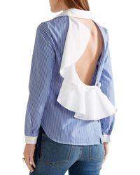 Sandy Liang Blue Shirt