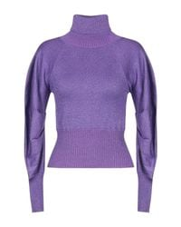 Annarita N. Purple Rollkragenpullover