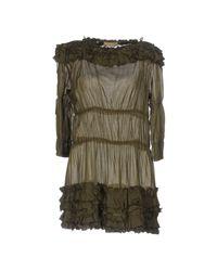 Ermanno Scervino - Green Short Dress - Lyst