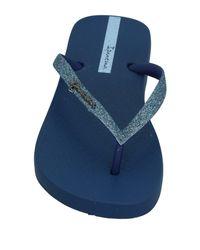 Ipanema Blue Toe Strap Sandal