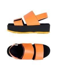 Marni Orange Sandals