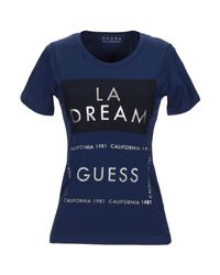 T-shirt Guess en coloris Blue