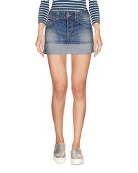 Dondup Blue Denim Skirt