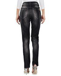 Twin Set Gray Denim Trousers