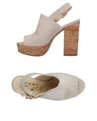 Divine Follie White Sandals