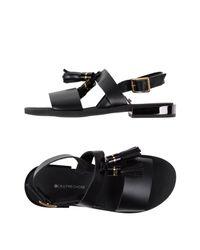 L'Autre Chose Black Sandals