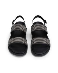 8 by YOOX Black Sandals for men