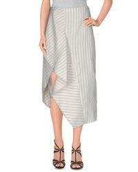 3.1 Phillip Lim White 3/4 Length Skirt