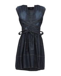 DSquared² Blue Short Dress