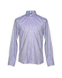 Chemise Canali pour homme en coloris Purple