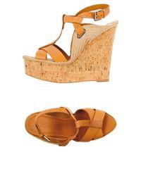 Ralph Lauren Collection - Orange Sandals - Lyst
