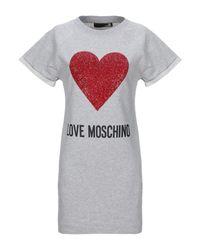 Minivestido Love Moschino de color Gray