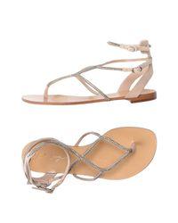 Lola Cruz Natural Toe Strap Sandal