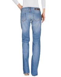 2W2M Blue Denim Pants