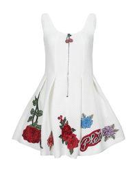 Robe courte Philipp Plein en coloris White