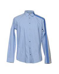 MSGM Blue Shirt for men