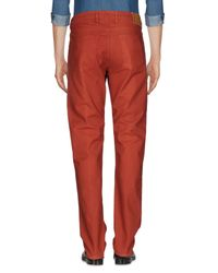 Pt05 Red Casual Pants for men