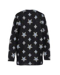 Saint Laurent - Black Oversized Star Cardigan - Lyst