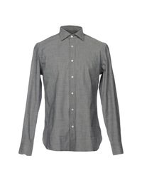 Mp Massimo Piombo Gray Shirt for men