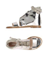 Philosophy di Alberta Ferretti Metallic Sandals