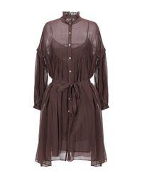 Robe courte Jucca en coloris Brown