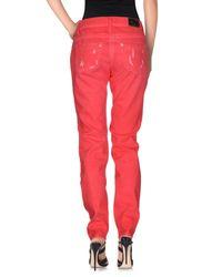 Blumarine Red Denim Pants
