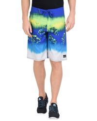 Oakley Blue Beach Shorts And Trousers for men