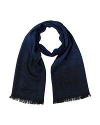 Écharpe Versace pour homme en coloris Blue