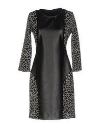 Pianurastudio Black Short Dress