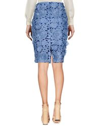 French Connection Blue Knee Length Skirt