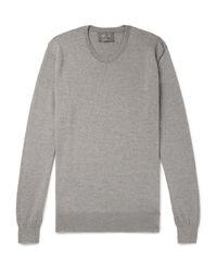 Pullover Private White V.c. de hombre de color Gray