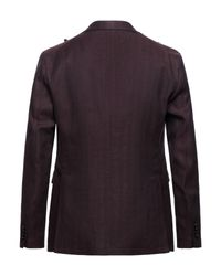 Tagliatore Purple Suit Jacket for men