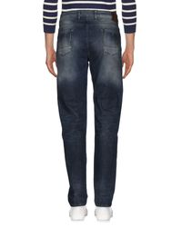 Pt05 Blue Denim Trousers for men