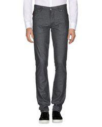 Pantalone di Isaia in Gray da Uomo