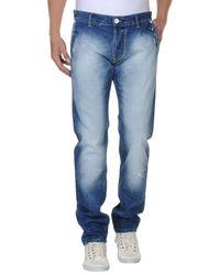 Brian Dales Blue Denim Pants for men