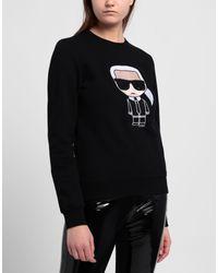 Sweat-shirt Karl Lagerfeld en coloris Black