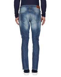 Frankie Morello Blue Denim Trousers for men
