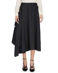Yohji Yamamoto Black 3/4 Length Skirt