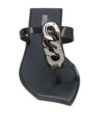 Melissa Black Toe Post Sandal