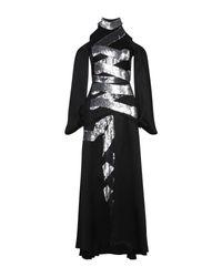 Vestido largo Temperley London de color Black