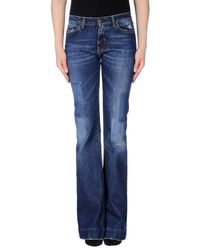 2W2M Blue Denim Trousers
