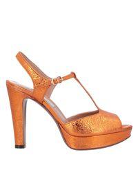 L'Autre Chose Orange Sandale