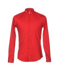 MSGM Red Shirt for men