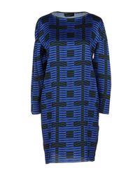 Piazza Sempione Blue Short Dress