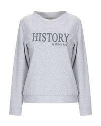Sweat-shirt History Repeats en coloris Gray