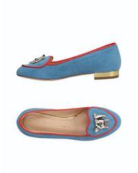 Charlotte Olympia Blue Ballet Flats