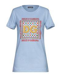 T-shirt di Dolce & Gabbana in Blue