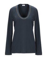 T-shirt Brunello Cucinelli en coloris Blue