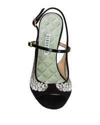 Giannico Black Sandals